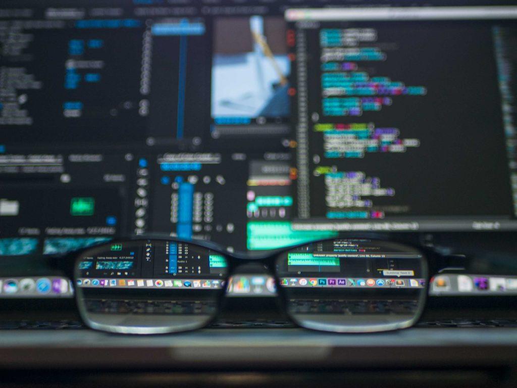 écran d'un développeur